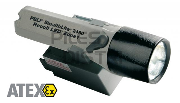 Torche antidéflagrante LED ATEX zone 1 - rechargeable 2460z1 Peli