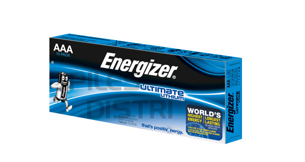 Pile AAA lithium -LR03 - Energizer Ultimate - pack de 10